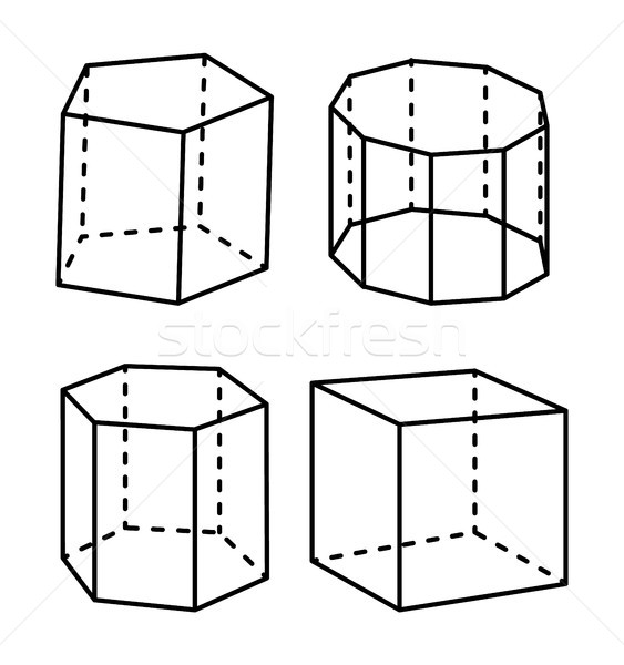 Geometric Shapes Colorless Vector Illustration Stock photo © robuart