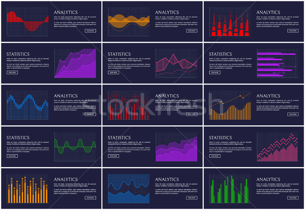 Foto stock: Estadística · analítica · banner · información · gráficos · aislado