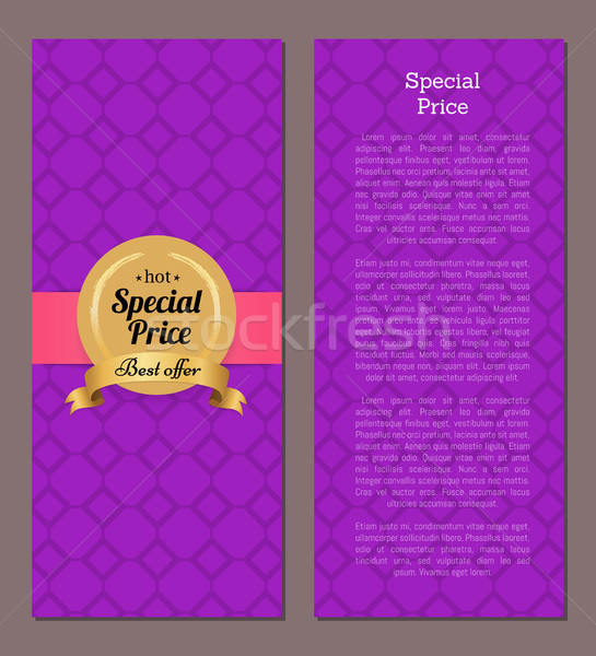 Special Price Hot Best Offer Golden Label on Cover Stock photo © robuart