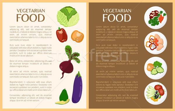 Vejetaryen yemek sebze sağlıklı bulaşık biber kabak Stok fotoğraf © robuart
