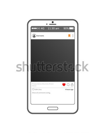Application Post on Smartphone Vector Illustration Stock photo © robuart