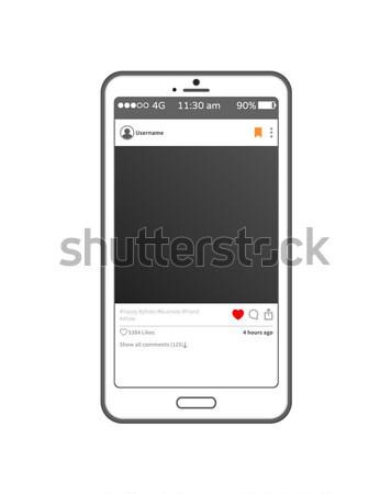 Aplicación post nombre de usuario muestra rojo Foto stock © robuart