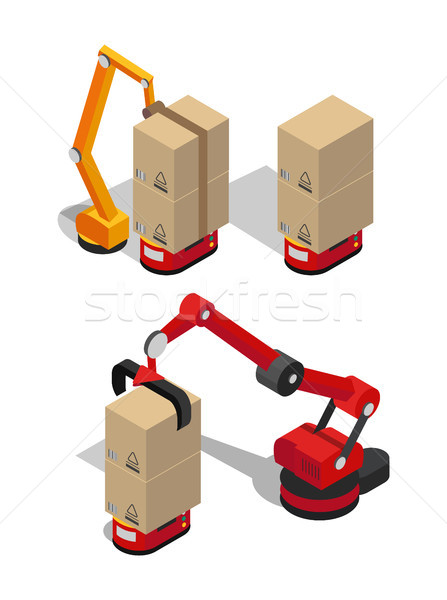 Manufacturing Process of Boxes Vector Illustration Stock photo © robuart