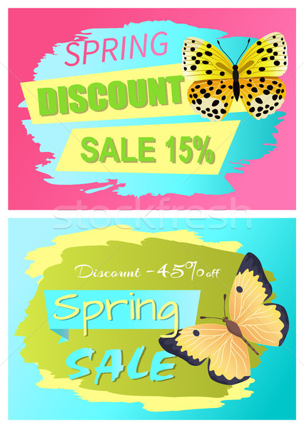 Spring Discount Sale 15 Off Discount 45 Set Stock photo © robuart