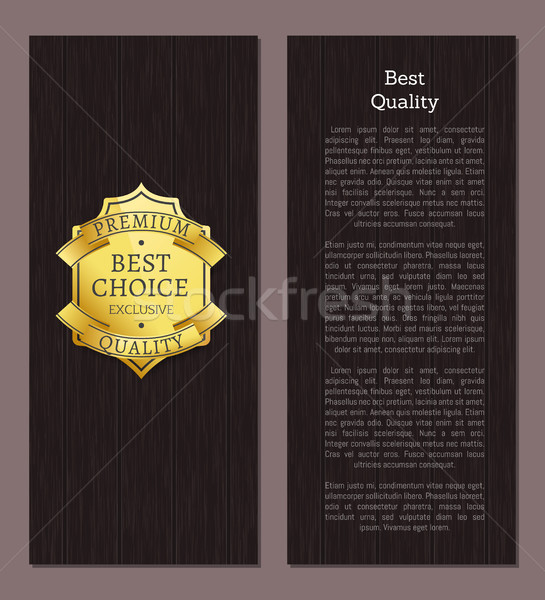 Best Choice of Premium Quality Shiny Golden Lable Stock photo © robuart