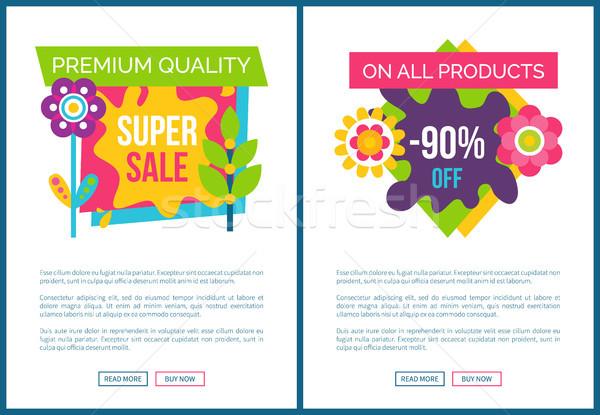 Premium Quality Super Sale Labels on Landing Pages Stock photo © robuart