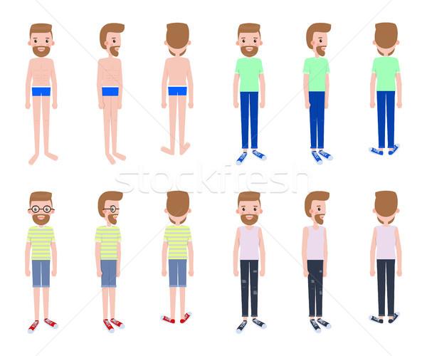 молодые парень несколько набор человека Сток-фото © robuart