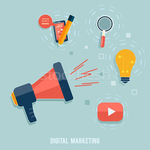 Digital marketing concept Stock photo © robuart