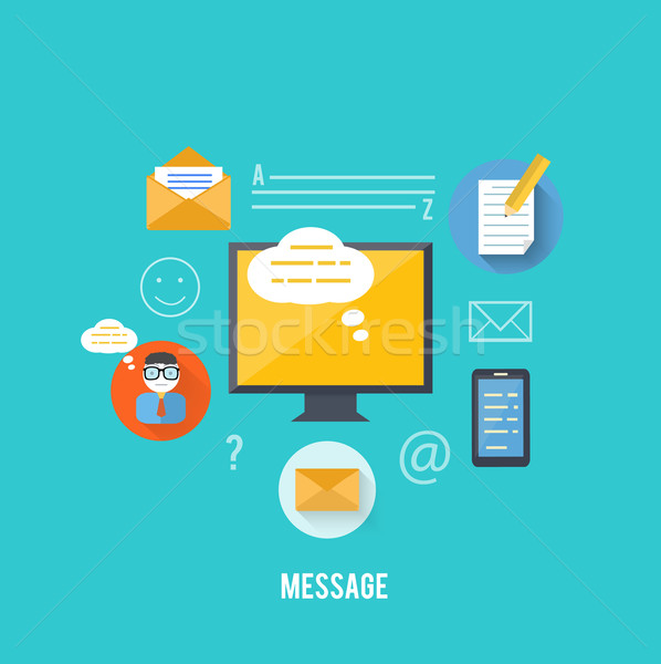 Concept of message and email technology Stock photo © robuart