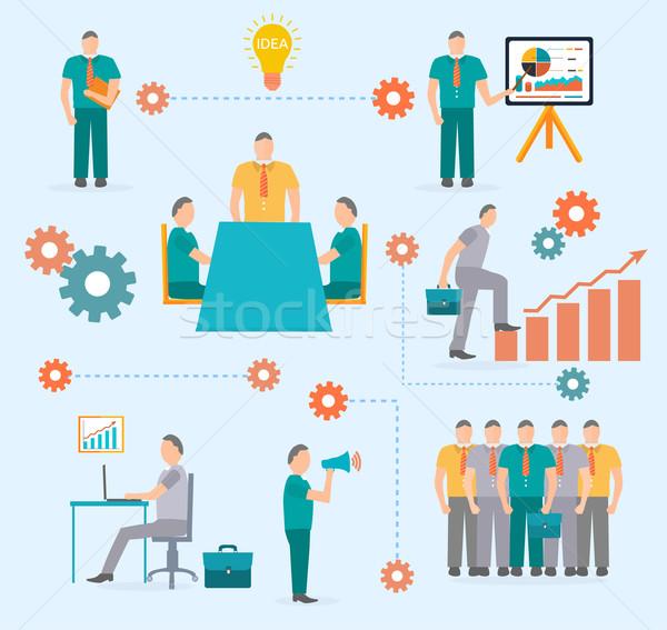 Business start infographics template Stock photo © robuart