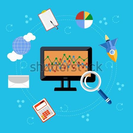 Programador de trabajo lugar superior vista Foto stock © robuart