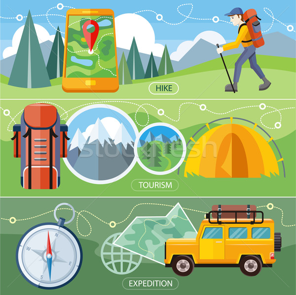 Hike, Expedition and Tourism Stock photo © robuart