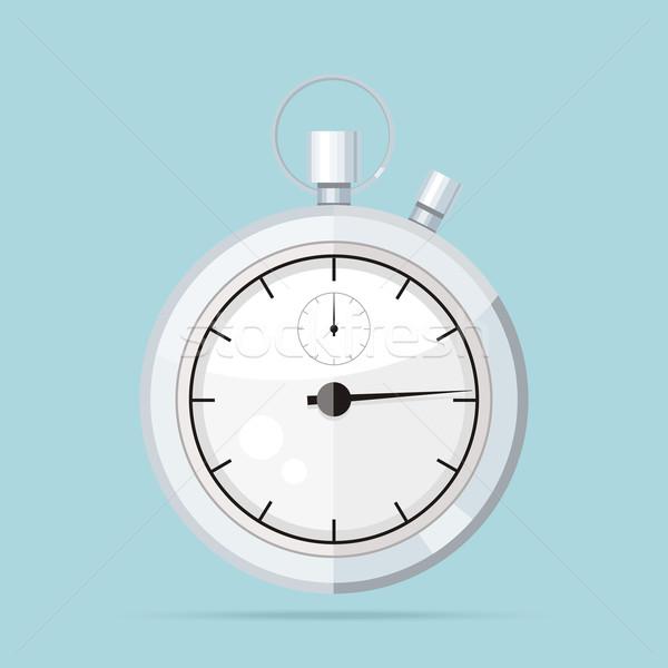 Stockfoto: Klok · logo · icon · geïsoleerd · horloge · object