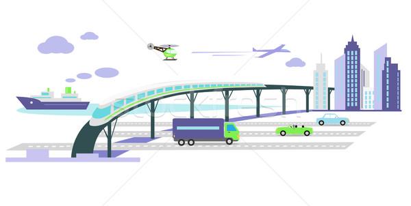 Gelişme taşıma altyapı ikon araba gelecek Stok fotoğraf © robuart