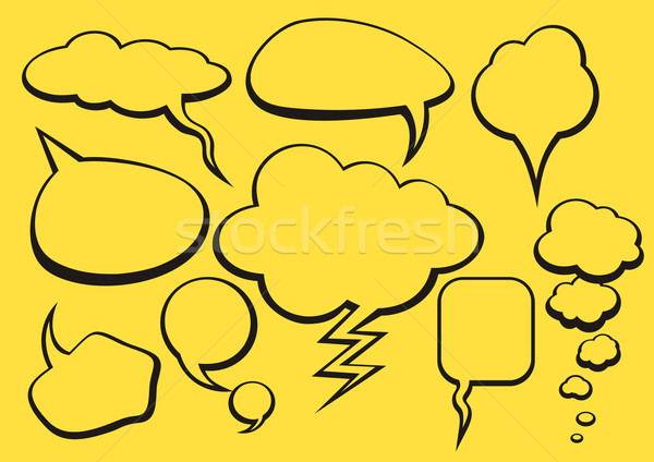 Bubble Talk Collection Sketch Drawing Stock photo © robuart