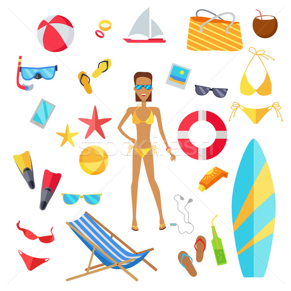 Set of Accessories for the Summer Holidays Stock photo © robuart
