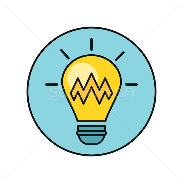 Electric Light Bulb Illustration In Flat Design. Stock photo © robuart