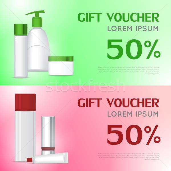 禮物 憑單 化妝品 模板 證書 商業照片 © robuart