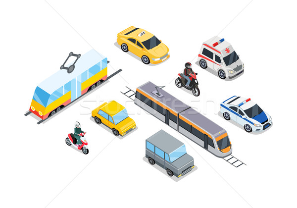 Public Transportation. Traffic Items Collection. Stock photo © robuart