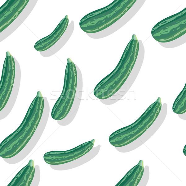 Cukkini végtelen minta csíkos vektor stílus illusztráció Stock fotó © robuart