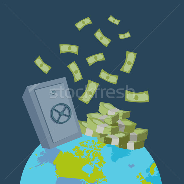 Global Wealth Vector Illustration Flat Design. Stock photo © robuart