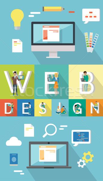 Web tasarım seo insan bilgisayarlar Stok fotoğraf © robuart