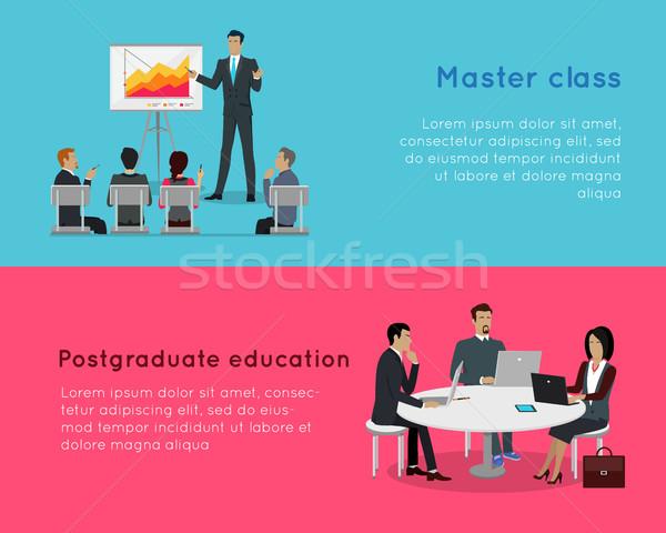 Maestro classe istruzione professionali crescita Foto d'archivio © robuart