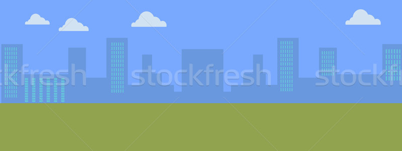 Urban Cityscape. Silhouettes of Buildings. Stock photo © robuart