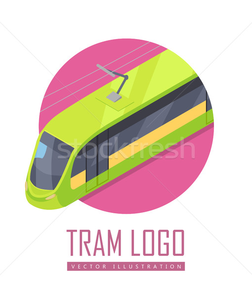 Tramway Vector Icon in Isometric Projection Stock photo © robuart