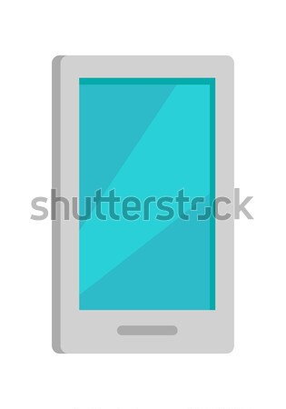 Mobile Phone Icon Isolated on White. Stock photo © robuart