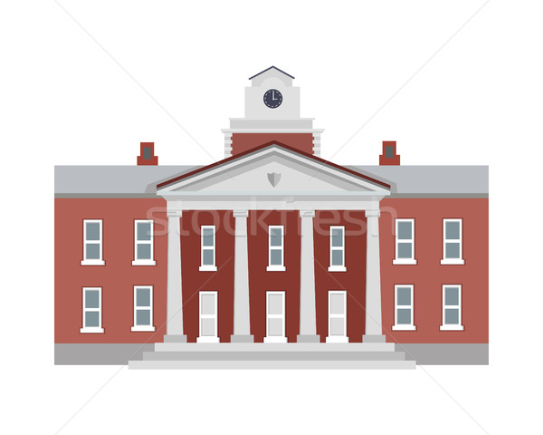 Illustration of Isolated Building with Columns Stock photo © robuart