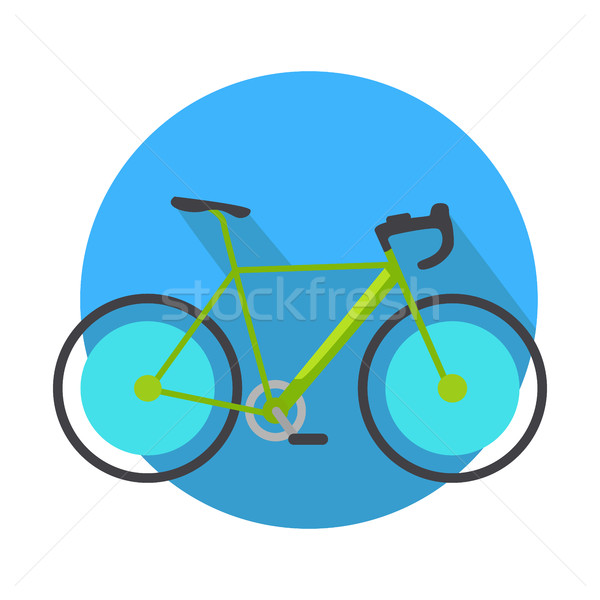 Bicycle Icon Design Flat Isolated. Bike Web Button Stock photo © robuart