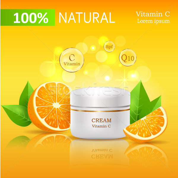 100 naturelles crème vitamine c illustration banque Photo stock © robuart