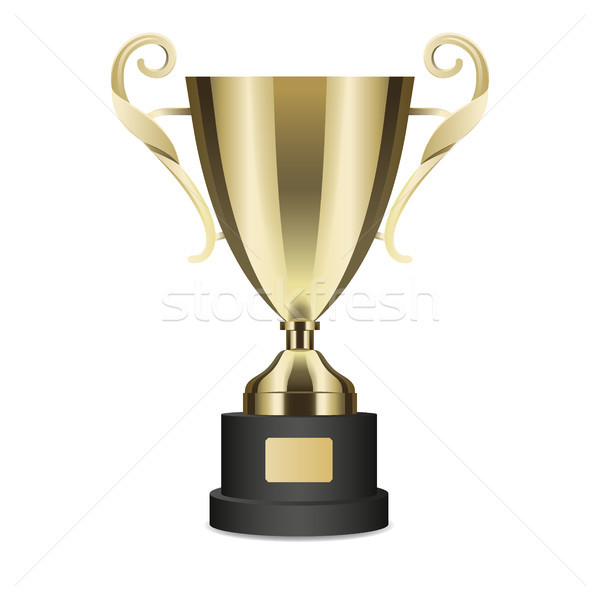 Stock photo: Realistic Golden Trophy Cup Isolated Illustration