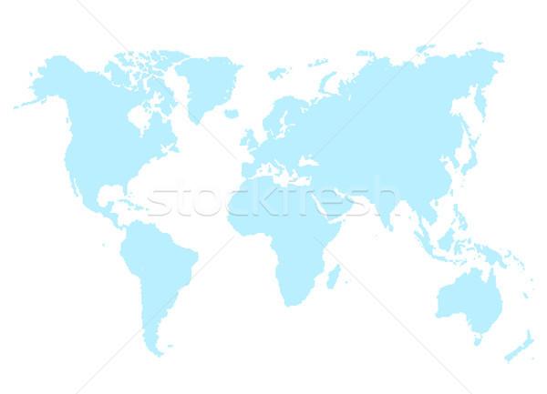 Bleu carte monde isolé blanche résumé Photo stock © robuart