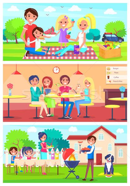семьи вместе из домой набор Сток-фото © robuart