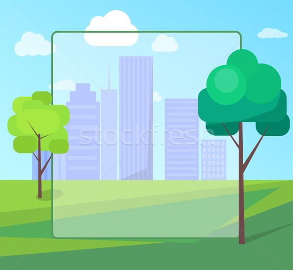 Foto d'archivio: Panorama · scenario · città · parco · verde · alberi