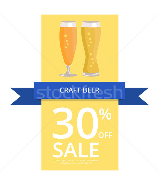 Craft Beer 30 Off Sale on Vector Illustration Stock photo © robuart