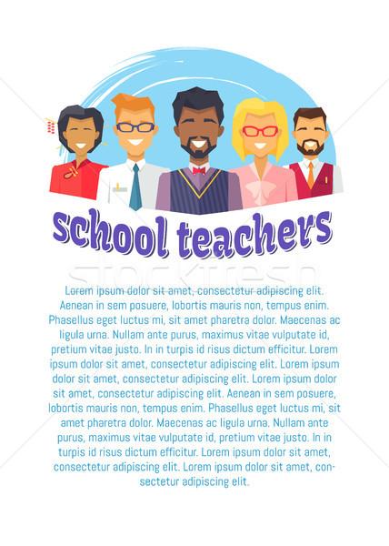 School Male Female Teachers Vector Illustration Stock photo © robuart