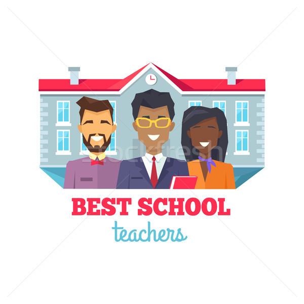 Best School Teachers Praise Vector Illustration Stock photo © robuart