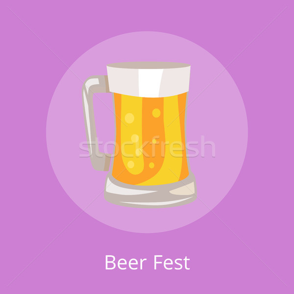 Beer Fest Icon of Light Beverage Mug Illustration Stock photo © robuart