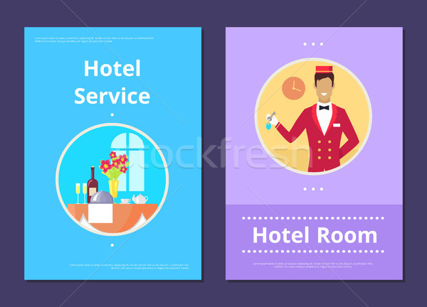 Comfortable Hotel Room Service Info Internet Page Stock photo © robuart