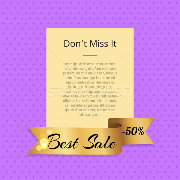 Don t Miss it Best Sale 50 Off Poster with Ribbon Stock photo © robuart