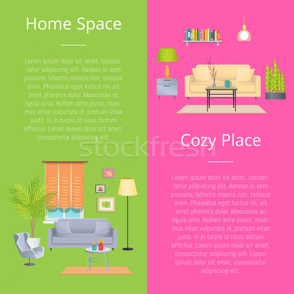 Home Space and Cozy Place Vector Illustration Stock photo © robuart