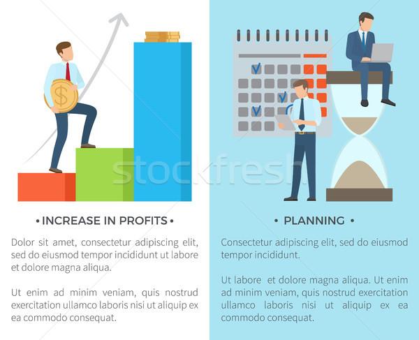 Wzrost planowania zestaw tekst tytuł Zdjęcia stock © robuart