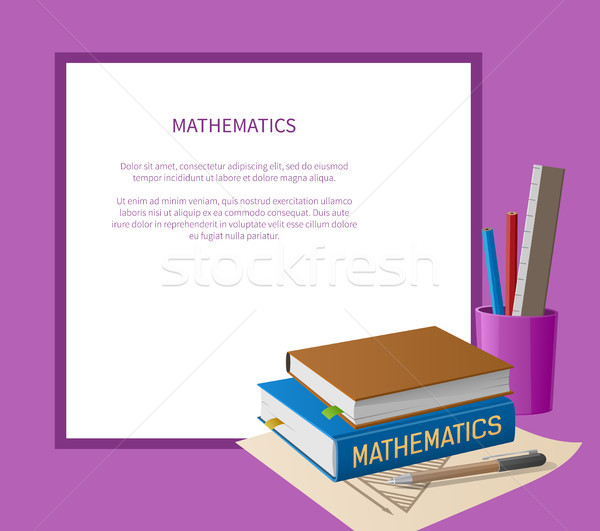 Mathematics Poster with White Frame Place for Text Stock photo © robuart