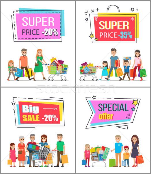 Szuper ár el felfelé 30 kereskedelmi Stock fotó © robuart