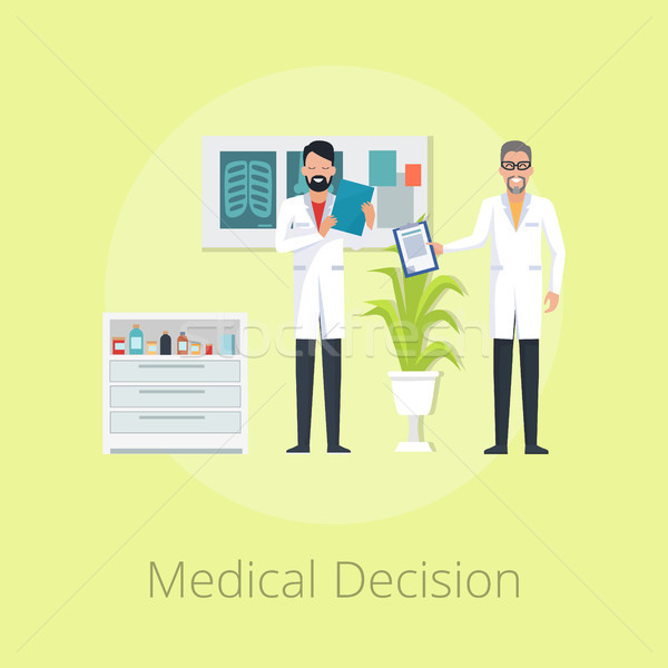 Medical Decision on Vector Illustration Yellow Stock photo © robuart