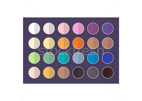 Bright and Dark Eyeshadows Big Colorful Palette Stock photo © robuart
