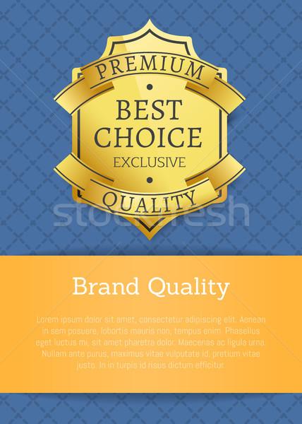 Merk kwaliteit exclusief best premie gouden Stockfoto © robuart